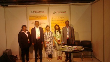 Krishi Jagaran Team in International Agri Mela 'Agra Me'