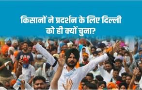 किसानों ने प्रदर्शन के लिए दिल्ली को ही क्यों चुना?
