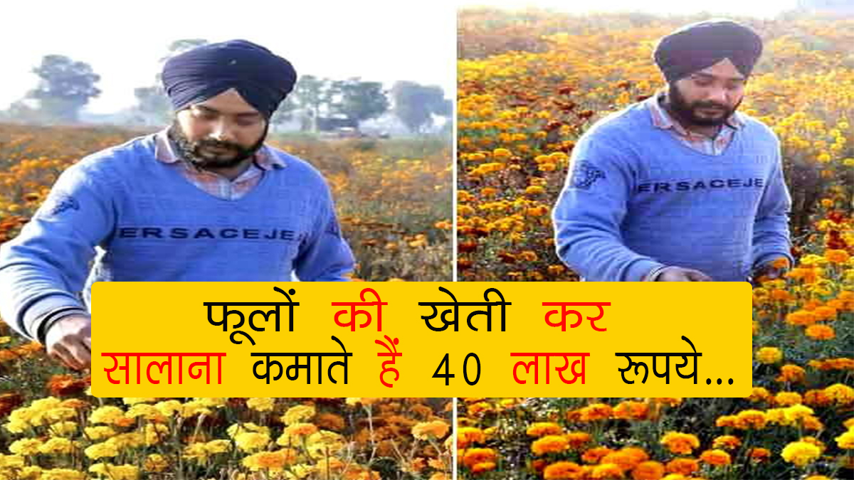 40 lakh rupees annually by cultivating flowers ...